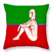 Nude 28 Throw Pillow