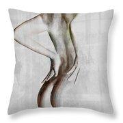Nude Abstract Greys 2 Throw Pillow