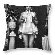 Nude As Ancient Musician Throw Pillow