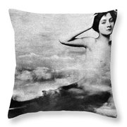 Nude As Mermaid, 1890s Throw Pillow