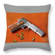 Nude Colt 45 Throw Pillow
