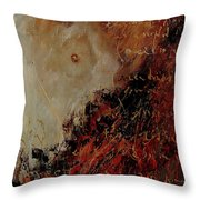 Nude Coming Out Of Abstraction Throw Pillow