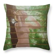 Nude Forest Throw Pillow