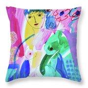 Nude, Garden Of Eden Throw Pillow