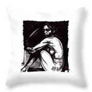 Nude Girl 1 Throw Pillow