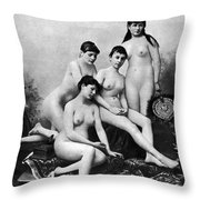 Nude Group, 1889 Throw Pillow