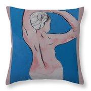 Nude I  Throw Pillow