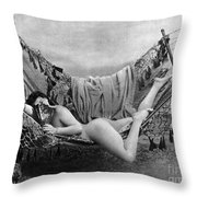 Nude In Hammock, C1885 Throw Pillow