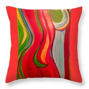 Nude Lines Throw Pillow