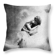 Nude Love Scene, 1890s Throw Pillow