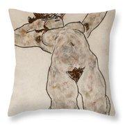 Nude Lying Down Throw Pillow