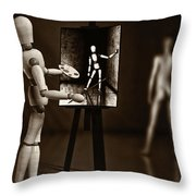 Nude Model  Throw Pillow
