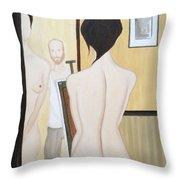 Nude Of M.b. Throw Pillow