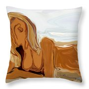 Nude On The Beach Throw Pillow