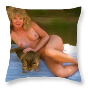 Nude Picnic 4 Throw Pillow