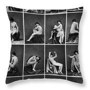 Nude Posing, C1875 Throw Pillow