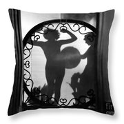 Nude Shadow, 1920s Throw Pillow