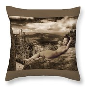 Nude Sunbather Throw Pillow