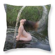 Nude Waterfall Throw Pillow