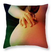 Nude Wine Throw Pillow