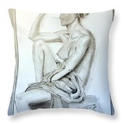 Nude Woman Viii Throw Pillow
