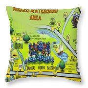 Nueces Watershed Area Throw Pillow