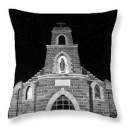 Nuestra Senora De Refugio, Illuminated By The Moon And Yard Lig Throw Pillow