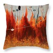 Bosque Encantado Throw Pillow