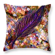 Nujabes' Feather Throw Pillow