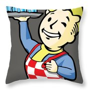 Nuka Boy Throw Pillow by Luis Pangilinan