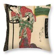 Numazu Senju Of The Sakaya 1823 Throw Pillow