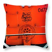 Number 0673 Train Throw Pillow