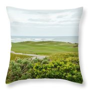 Number 1 From The Whites At Spanish Bay Throw Pillow