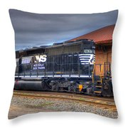 Number 1637 Dash One Throw Pillow