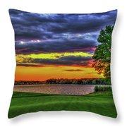 Number 4 The Landing Reynolds Plantation Golf Art Throw Pillow