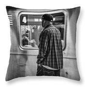 Number 4 Train Throw Pillow