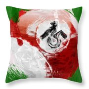 Number Fifteen Billiards Ball Abstract Throw Pillow by David G Paul