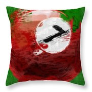 Number Seven Billiards Ball Abstract Throw Pillow