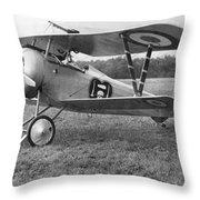Nungesser's Nieuport 17 Throw Pillow