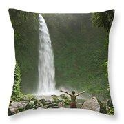 Nungnung Waterfall Throw Pillow