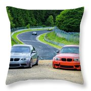 Nurburgring Race Track Throw Pillow