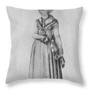 Nuremberg Woman In House Dress Throw Pillow