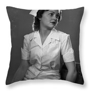 Nurse Rembrandt Lighting Throw Pillow