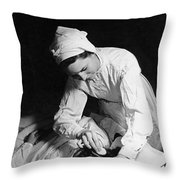 Nurse Tending To A Patient Throw Pillow