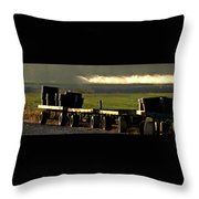 Nursery Wagons Throw Pillow