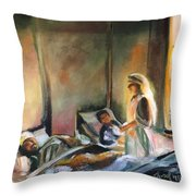 Nurses Are Heroes To Heroes Throw Pillow