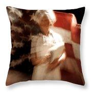 Nursing America Throw Pillow