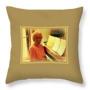 Nursing Home Piano Player Throw Pillow
