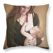 Nursing With A Shield Throw Pillow