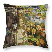 Nuthatch And Creeper Throw Pillow